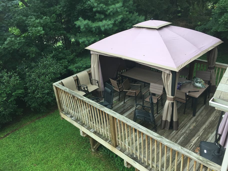 Large Backyard with Deck and Gazebo