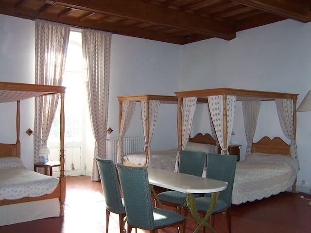 chambre de Guiraude dans un château - Trausse - Bed & Breakfast