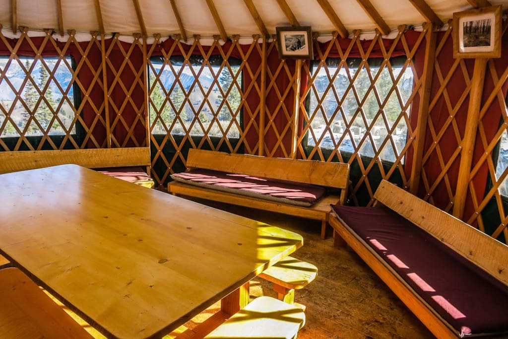The dining Yurt