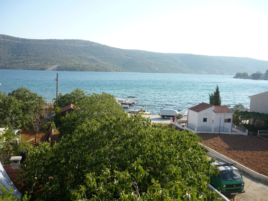 view over the garden and Adriatic