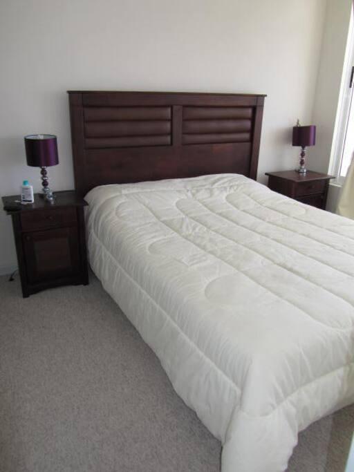 La cama del dormitorio