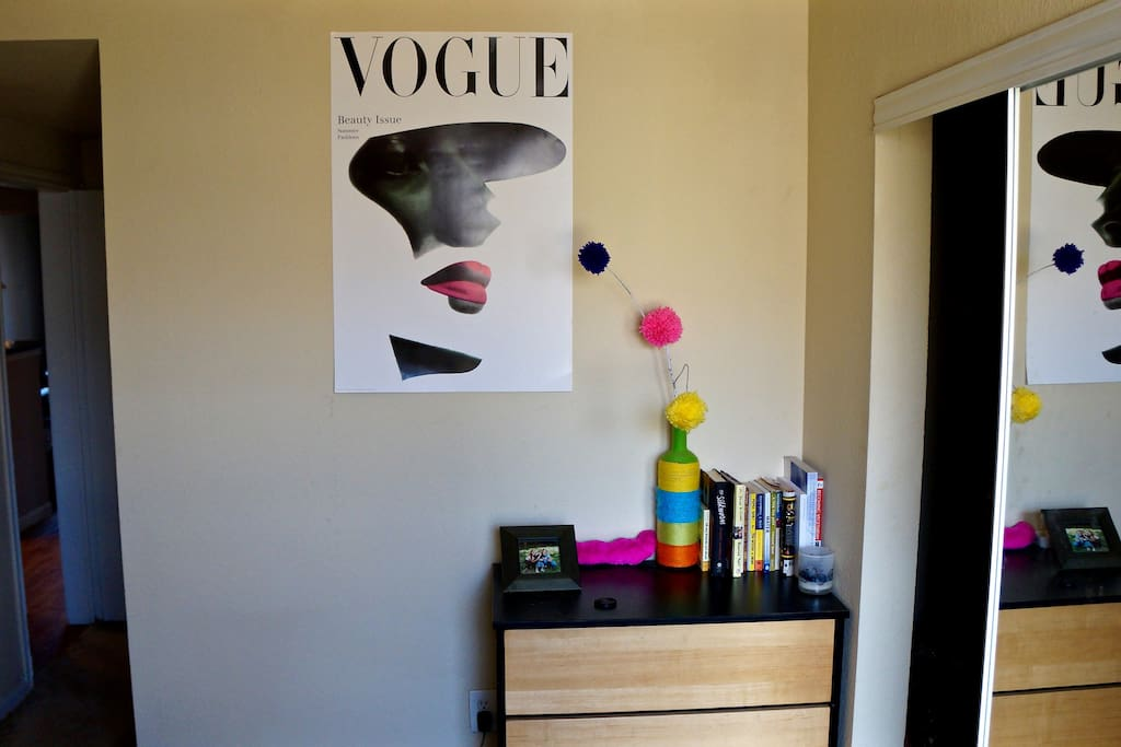 This is the closet space and dresser!