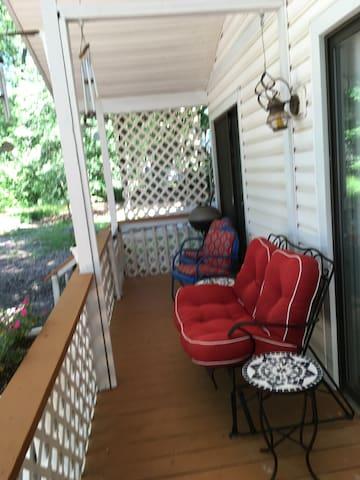 Backyard porch.