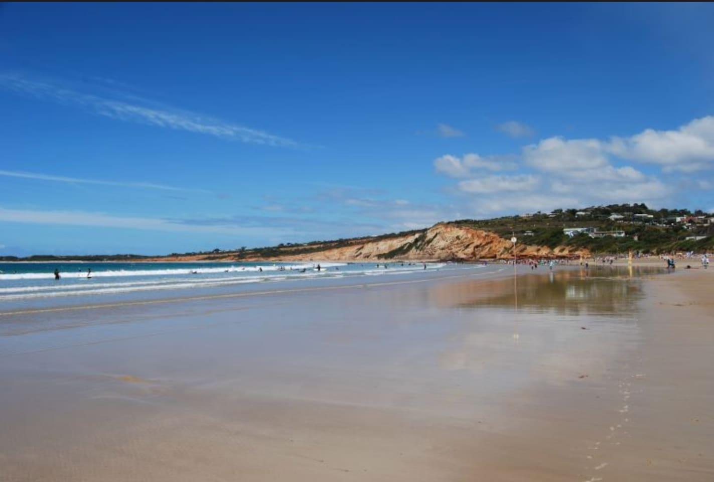 Anglesea beach - 10 min walk