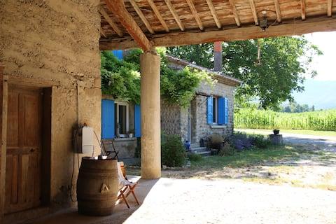 Ancienne ferme drômoise, Piscine, grands espaces