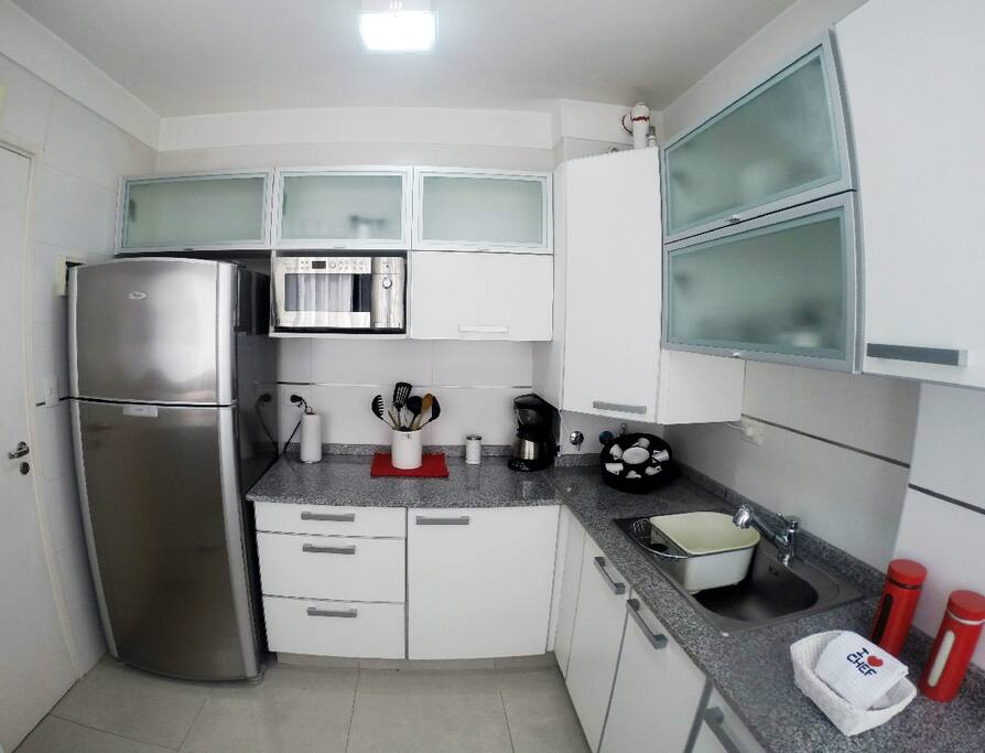 Fully equipped kitchen and new appliances