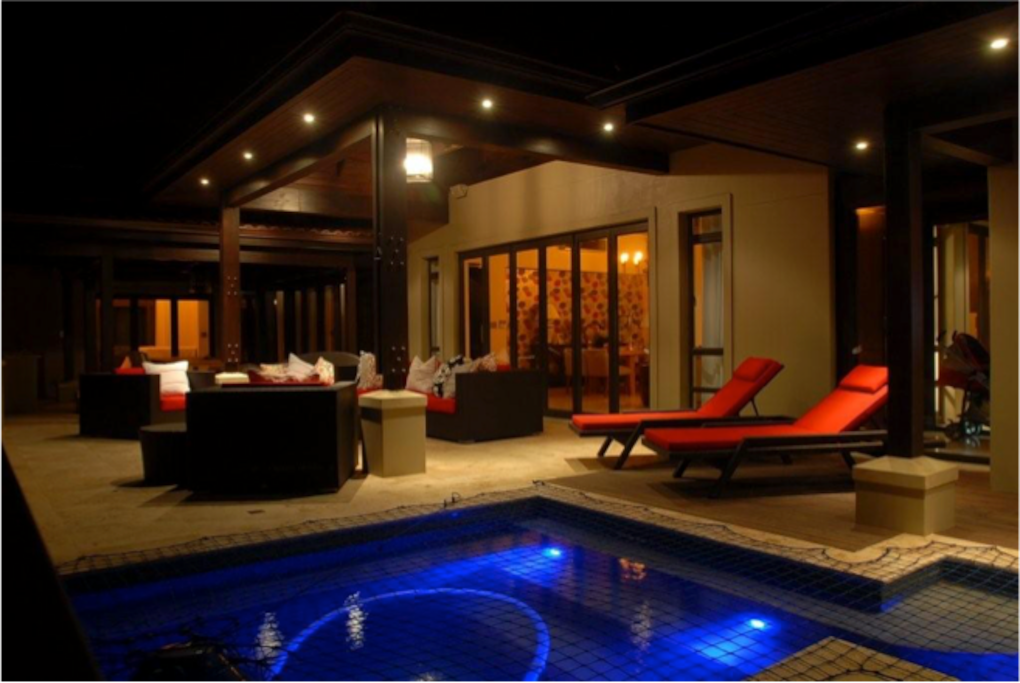 Pool and outdoor patio area