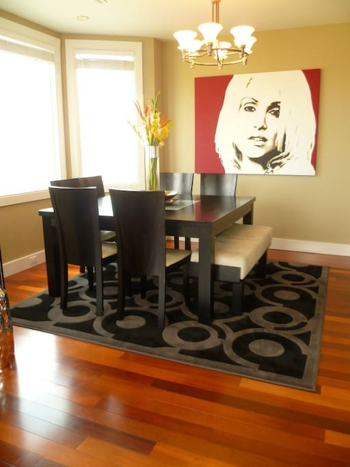 Have a wonderful dining experience in this beautiful and fun dining area!