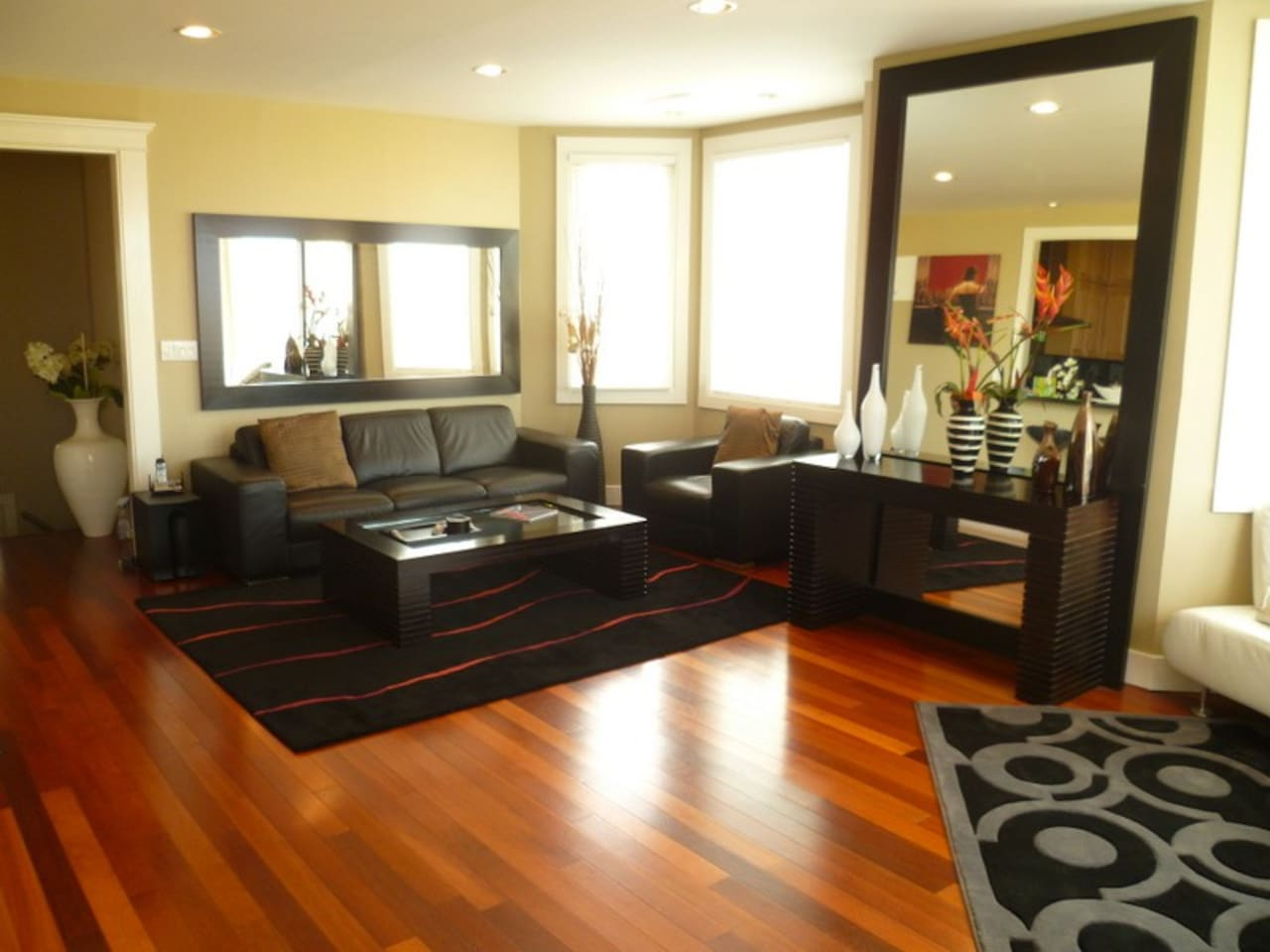 Spacious, Modern, and Comfortable Living Area With Large Windows Throughout!