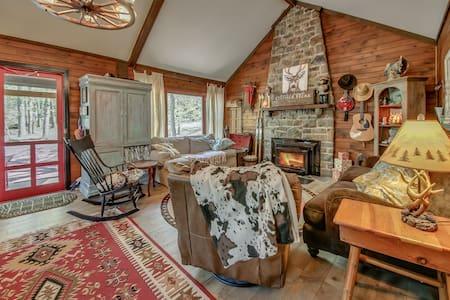 Rustic 4 Bedrm 2 Ba Cabin Split Rock, Lake Harmony