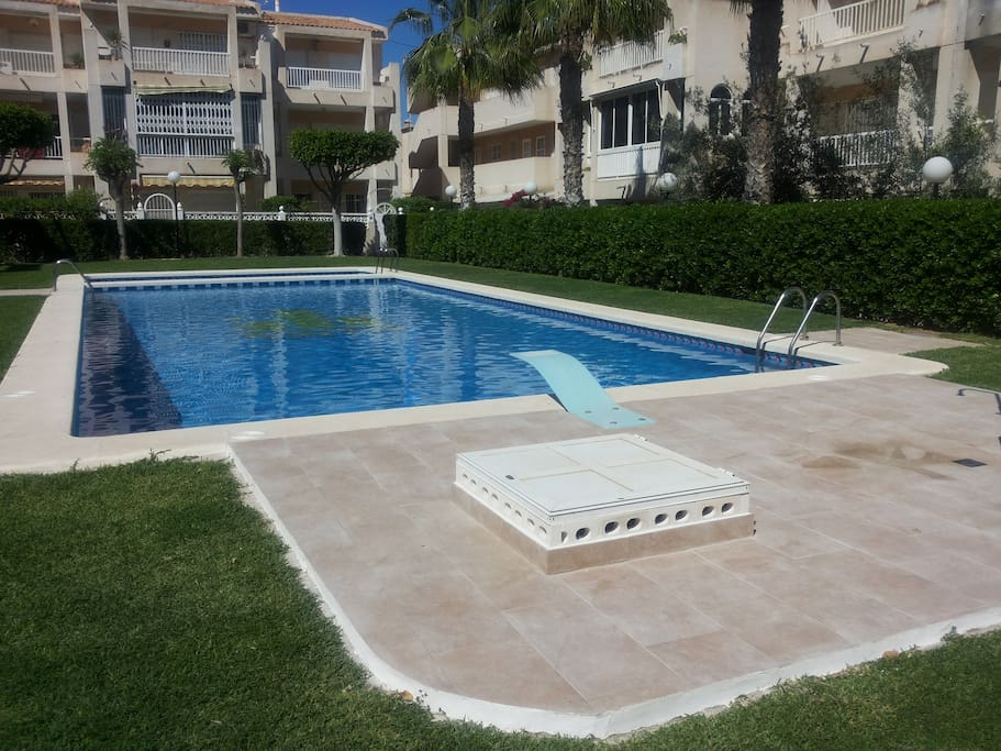 Cozy apartment with wifi and pool flats for rent in for Iceland torrevieja