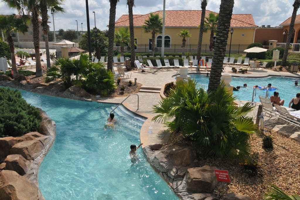 With our own Lazy river...  HEATED year round