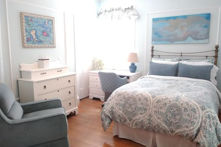 The Library Bedroom - a cozy, sequestered hideaway