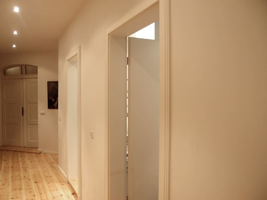 entrance and hall towards bathroom and toilet
