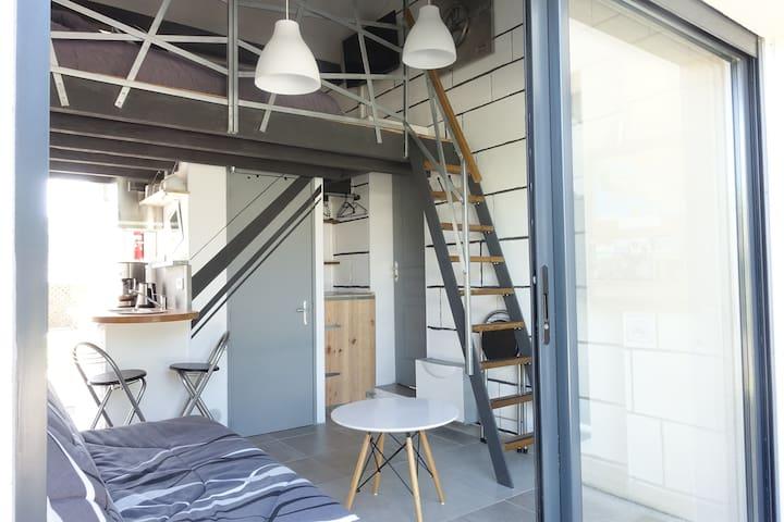 Studio guest house 20 m2(clim) jusqu'à 4 personnes