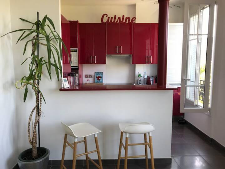 agreable appartement au calme aux portes de paris