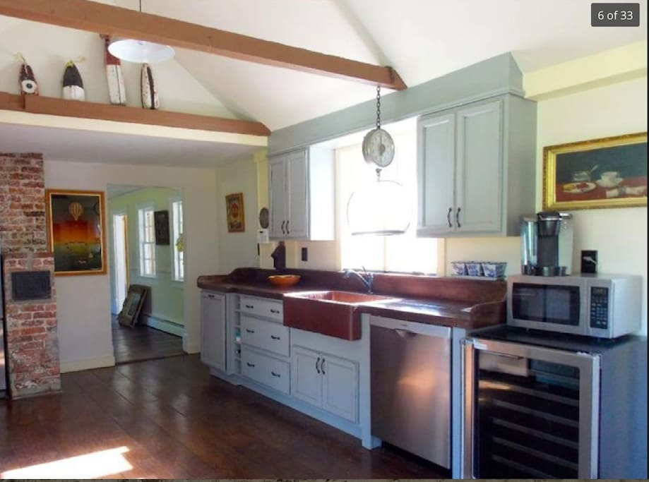 Updated kitchen, cathederal ceiling, sunny, bright and private.