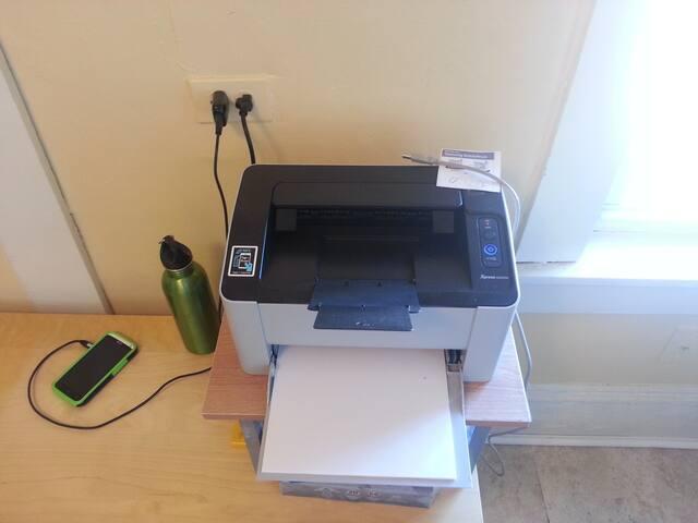 Wireless and USB printer.
