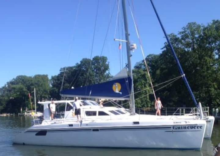 Luxurious 50 ft. Catamaran BNB/ Bahama Charters