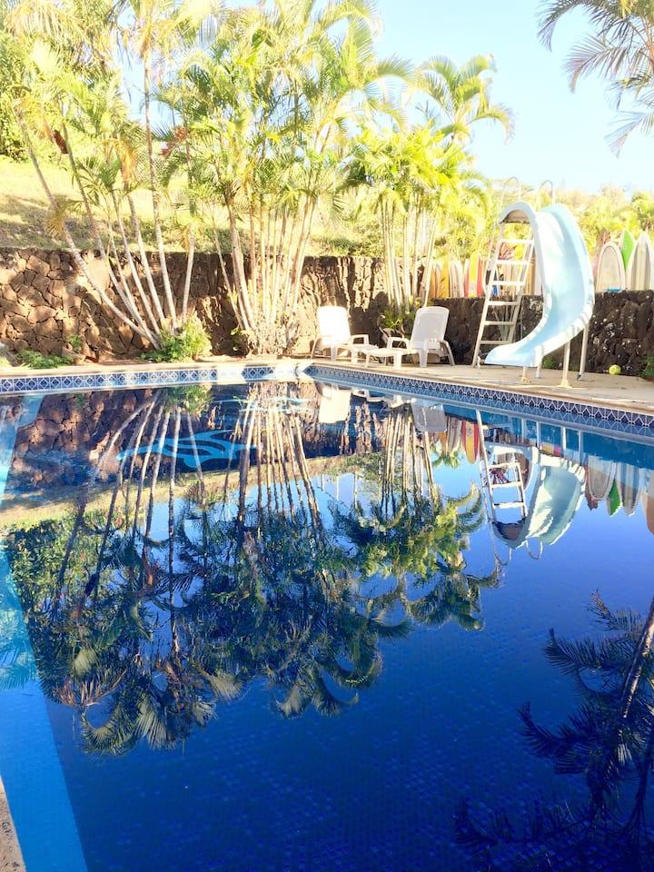 Large 580 sqft Studio+Pool in owner occupied home