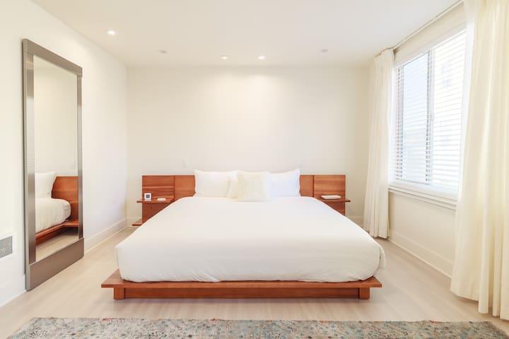 Big comfy CB2 King Bed