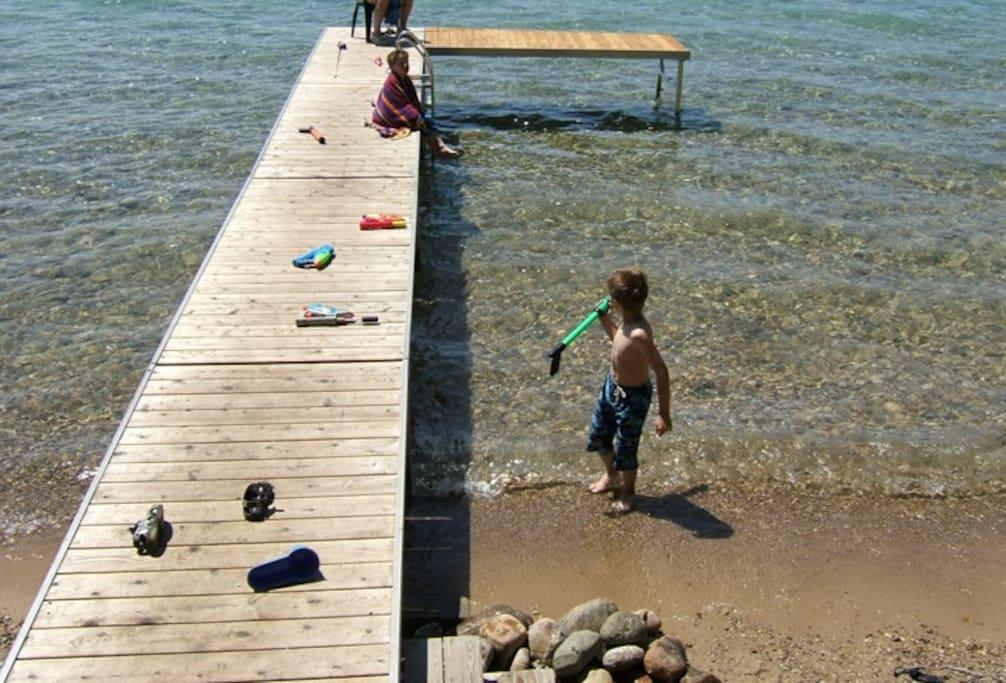Amazing beach and dock