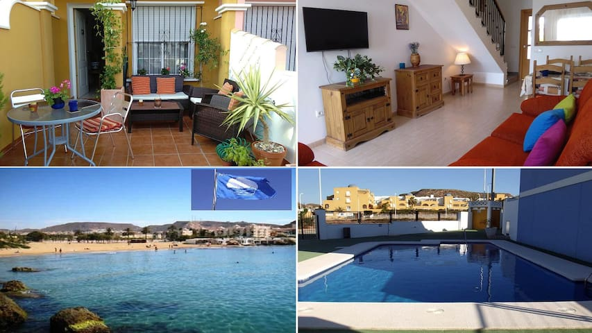 Sunny beach holiday family house & pool* - San Juan de los Terreros - Haus