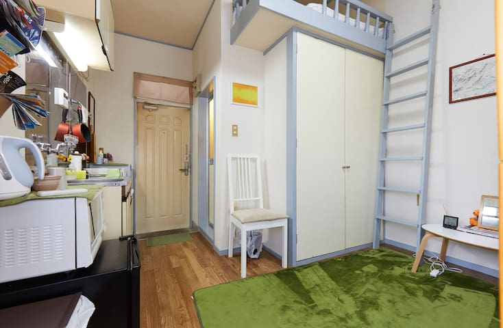 3 Clean Apartments with Lofts near Shinjuku! ABC - Suginami-ku - Apartment