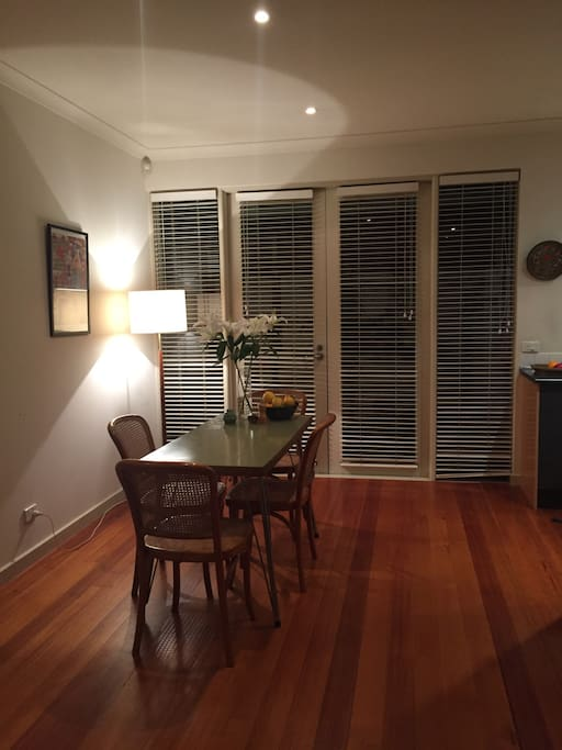 Dining area adjacent to the kitchen