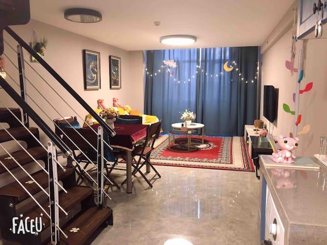 「遇·见」高端loft/鼓楼/小吃街/超大床
