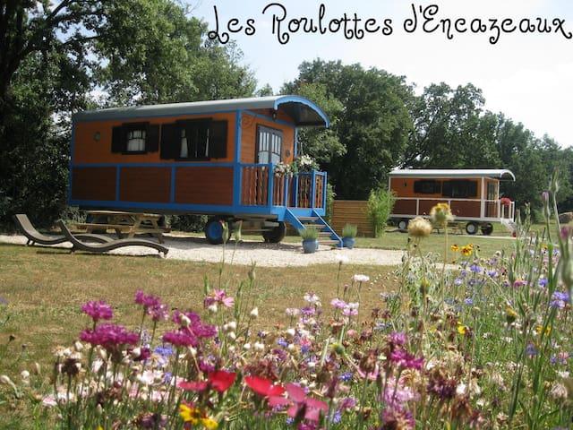 Les roulottes d'encazeaux dans le Gers en Gasconne - L'Isle-Jourdain - Annat