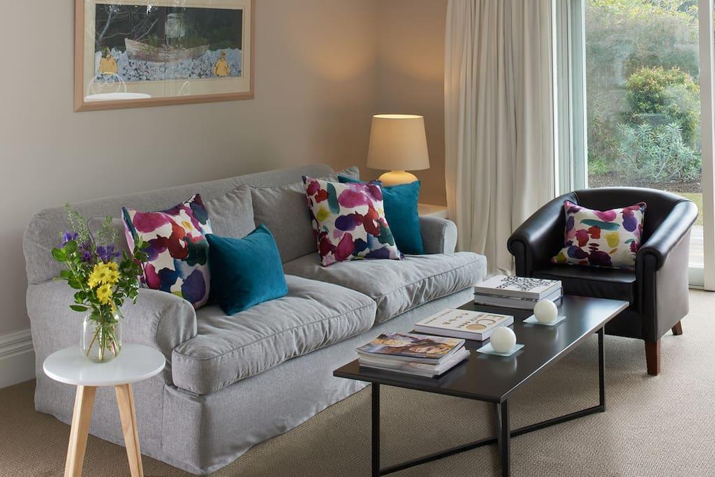 Treghan Retreat's Owner's Cottage Livingroom