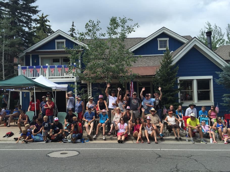 The perfect spot on 4th of July weekend as the town parade cruises right in front of the house!