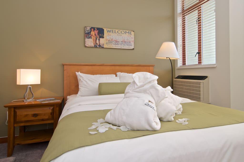 comfrotable queen bed