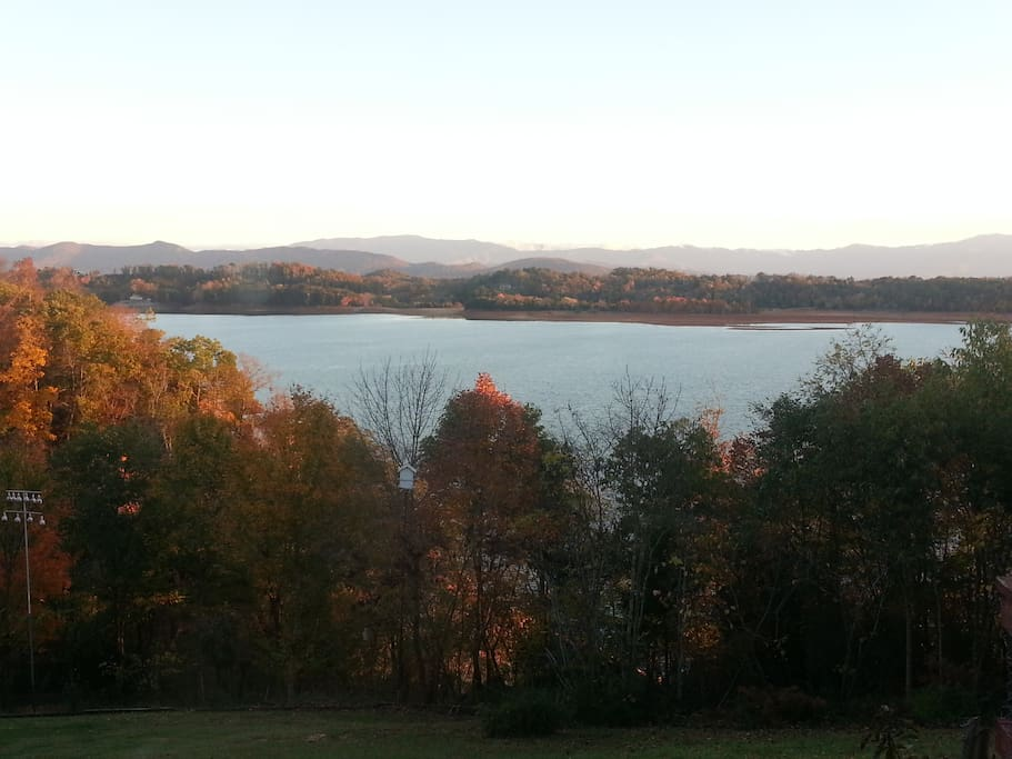 Enjoy fall from your deck and later take a drive in the nearby Smoky Mountains.