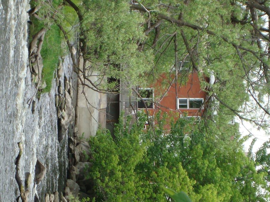 Maison vu de l'île