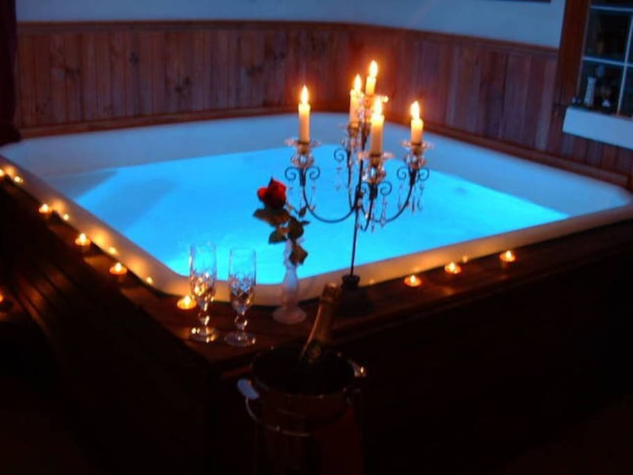 Our garden courtyard spa is available for guests use in the warmer months