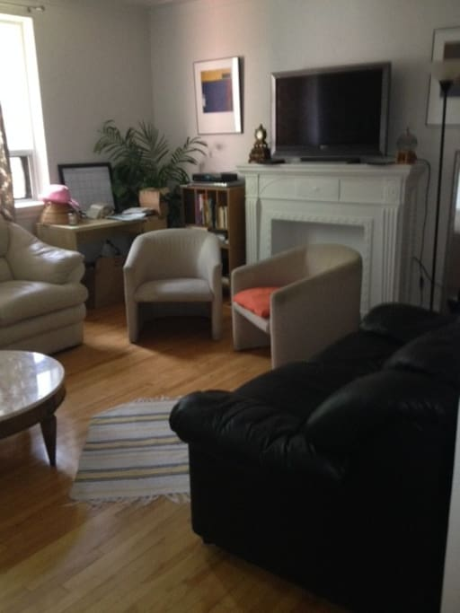 the left side of the living room