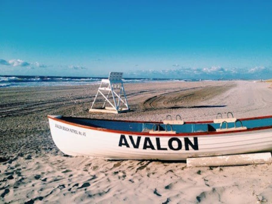 Avalon is the nearest town for a stroll.. Lunch and a beautiful beach. 5 minute drive away