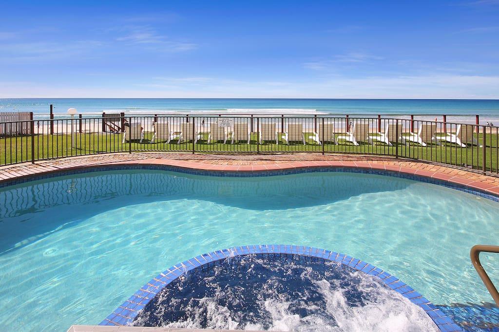 Heated Beachfront Pool & Spa
