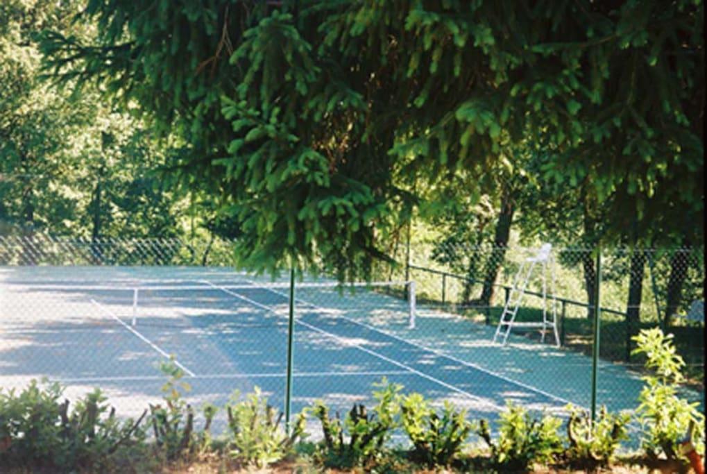 Le court de tennis privé