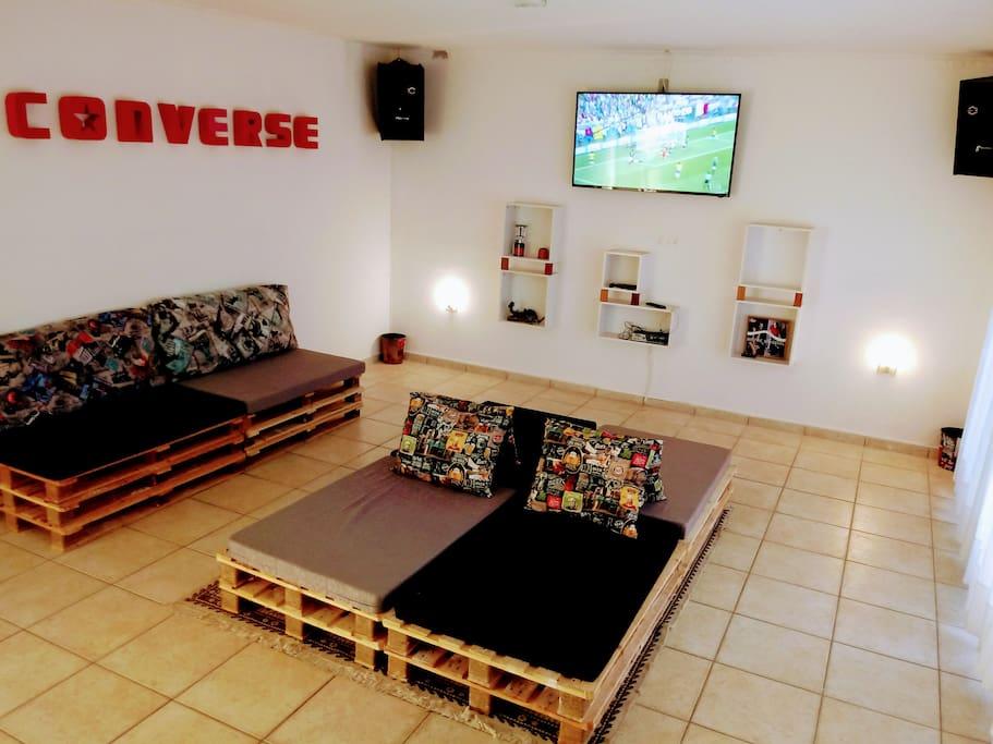 SALA DE TV E VIDEO GAME COM TV 55