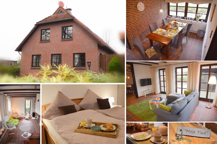 Schönes Ferienhaus mit Kamin im Seemannsort Barßel