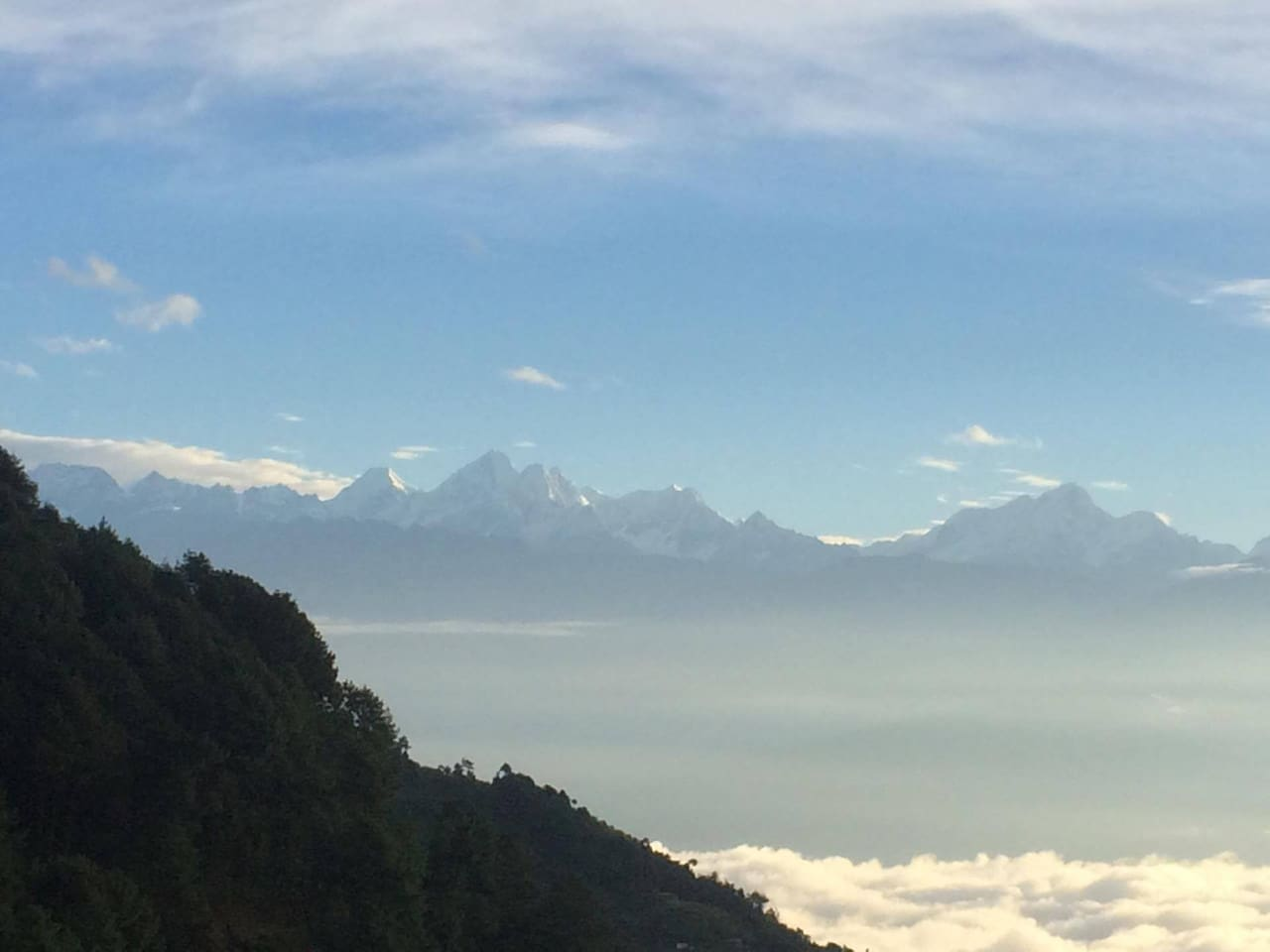 Himalayas on the North