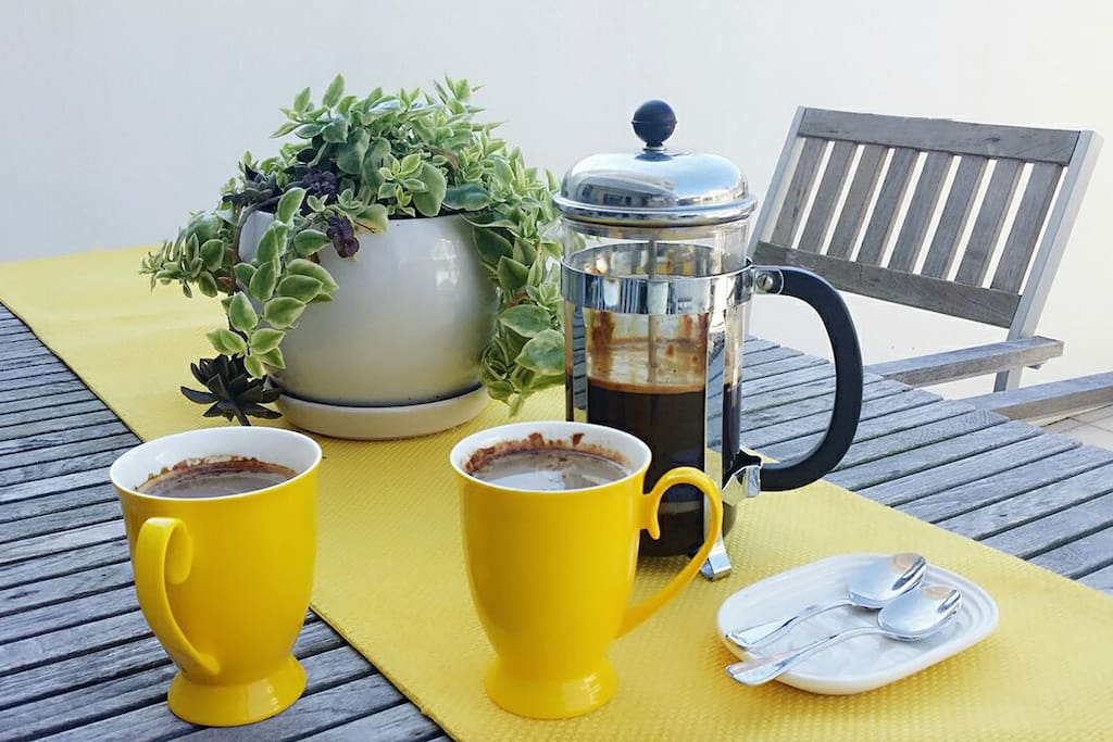Morning breakfast in the Sunshine