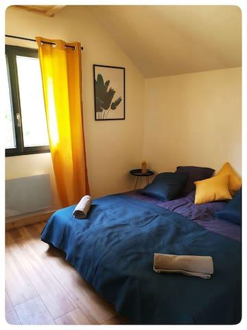 Chambre avec au choix deux lits en 90x200 ou un lit en 180x200