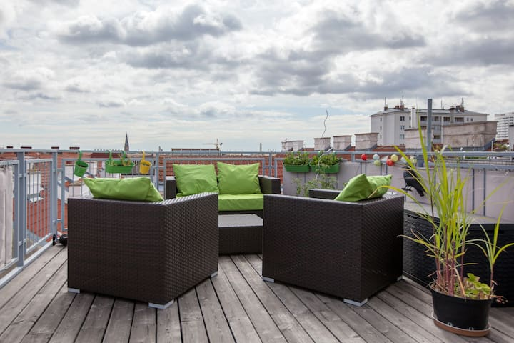 *Idyllic & quiet roofterrace flat* - Vienne - Appartement