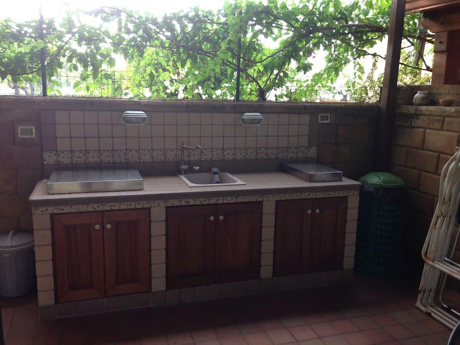 La cucina esterna