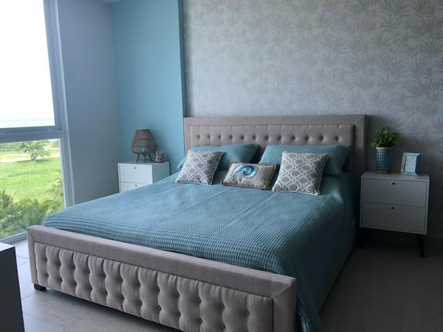 Master bedroom with king size bed.  Large smart television also available in this bedroom.
