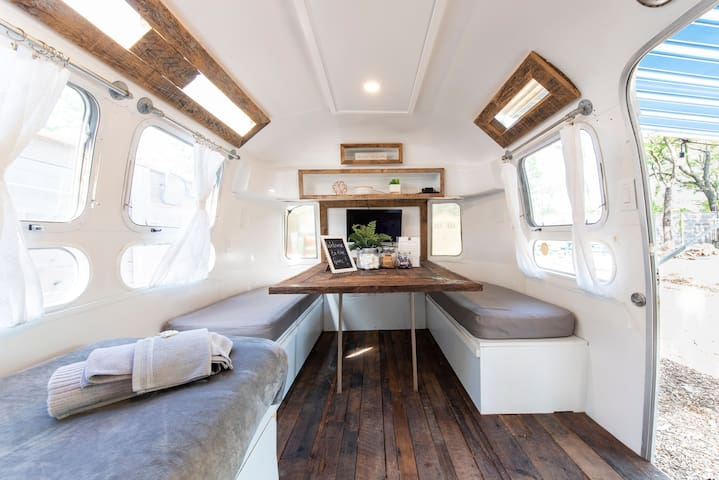 The Grace Airstream by the water in Derby City